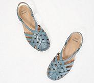 Earth Origins Leather Cross-Strap Sandals - Belle Brielle - A350737