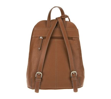 a94102ac16 Tignanello Pebble Leather Backpack with Front Pockets - Page 1 — QVC.com