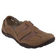 Clarks Nubuck Slip-On Shoes w/ Elastic - Haley Stork - A230238