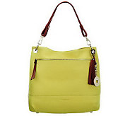 As Is Isaac Mizrahi Live! Bridgehampton Pebble Leather Hobo - A239038