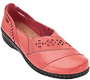 Clarks Leather Slip-on Shoes - Evianna Fig - A258138