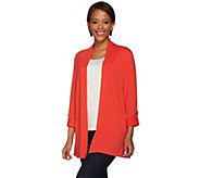 Susan Graver Weekend Cotton Modal 3/4 Sleeve Cardigan - A274438