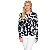 Susan Graver Lightweight Printed Textured Knit Jacket - A276438