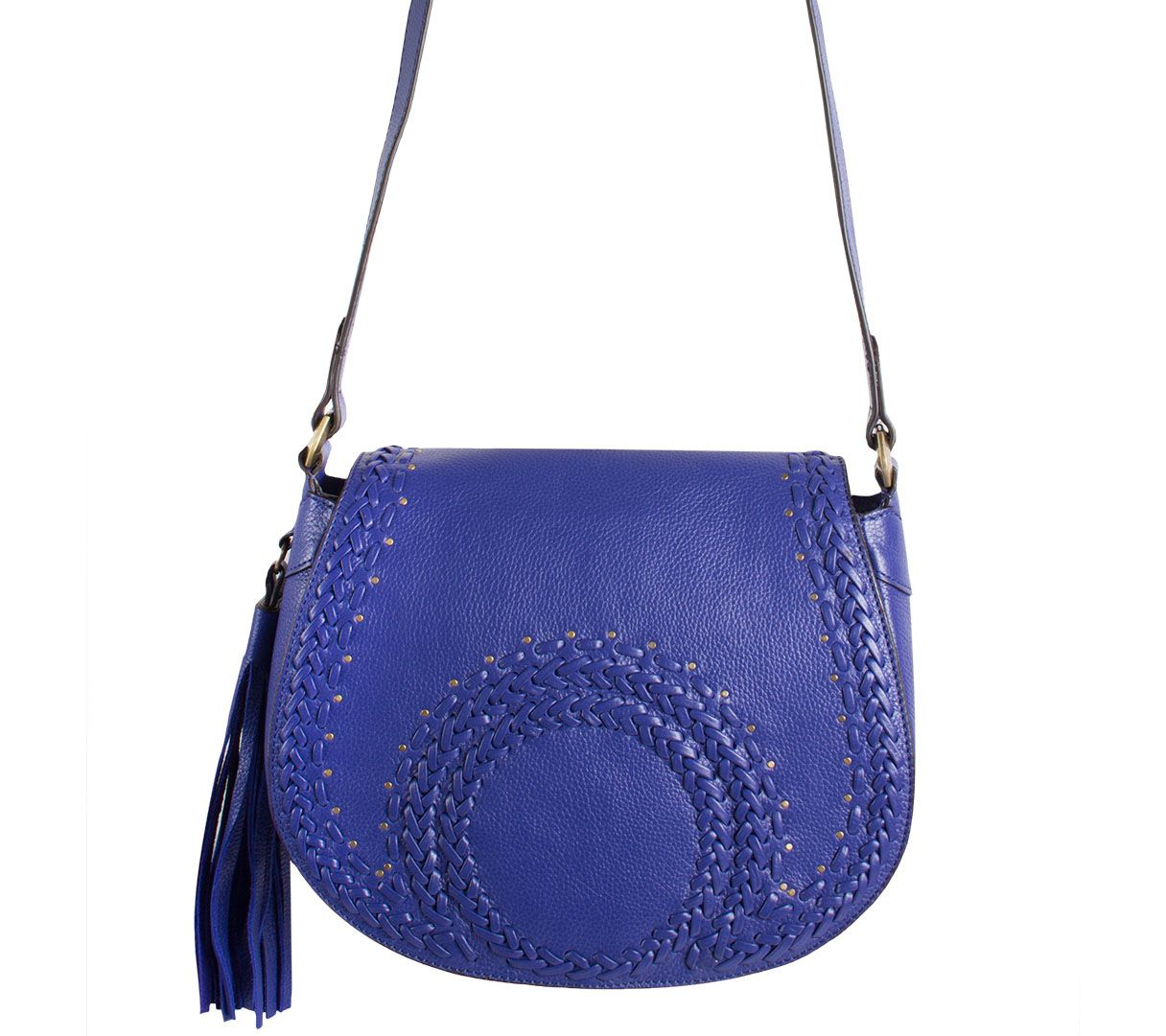 dd4b6d4dea09 orYANY Pebbled Leather Saddle Bag w  Whipstitch Detail - Nikita - Page 1 —  QVC.com