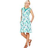 Denim & Co. Beach Knit Sleeveless Printed Dress - A291638