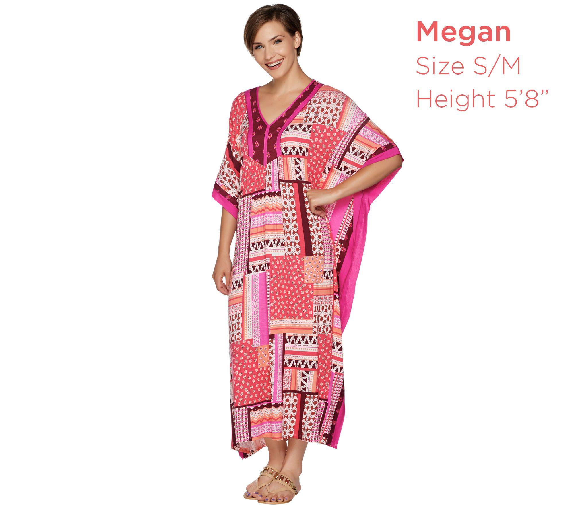 afbec9fb214 Ellen Tracy Jersey Knit V-Neck Long Caftan - Page 1 — QVC.com