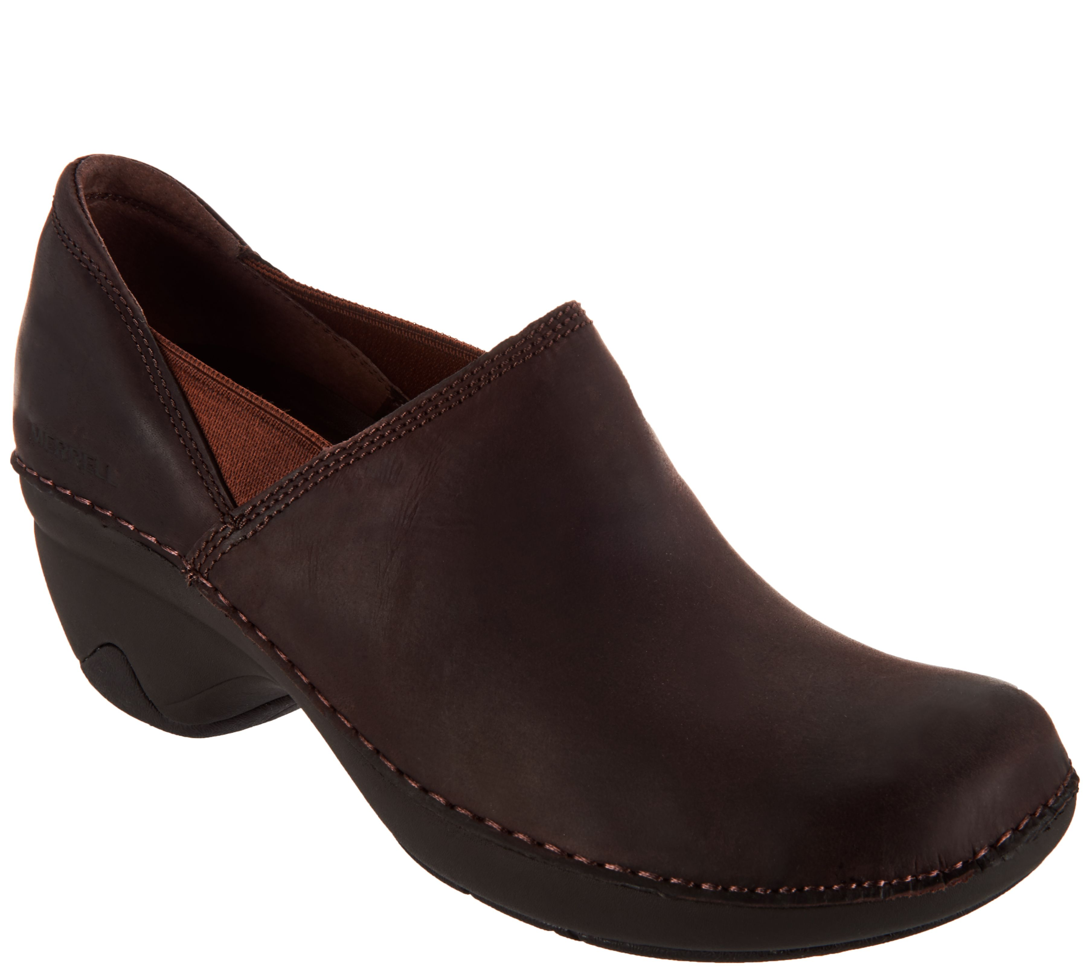 7c9c550dd09 Merrell Water Resistant Leather Slip-On Shoes - Emma Leather - Page 1 —  QVC.com