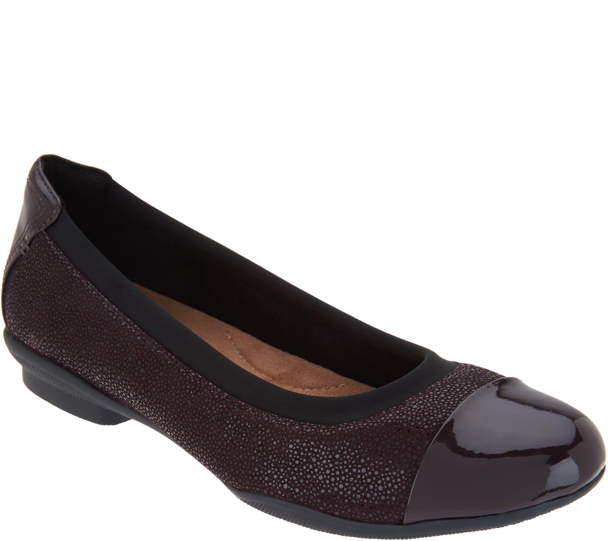 19dd568a948f Clarks Artisan Leather Ballet Flats - Neenah Garden - Page 1 — QVC.com