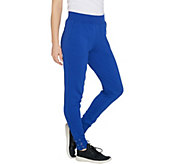 Denim & Co. Active French Terry Jogger Pants w/ Lace Up Cuff - A303138
