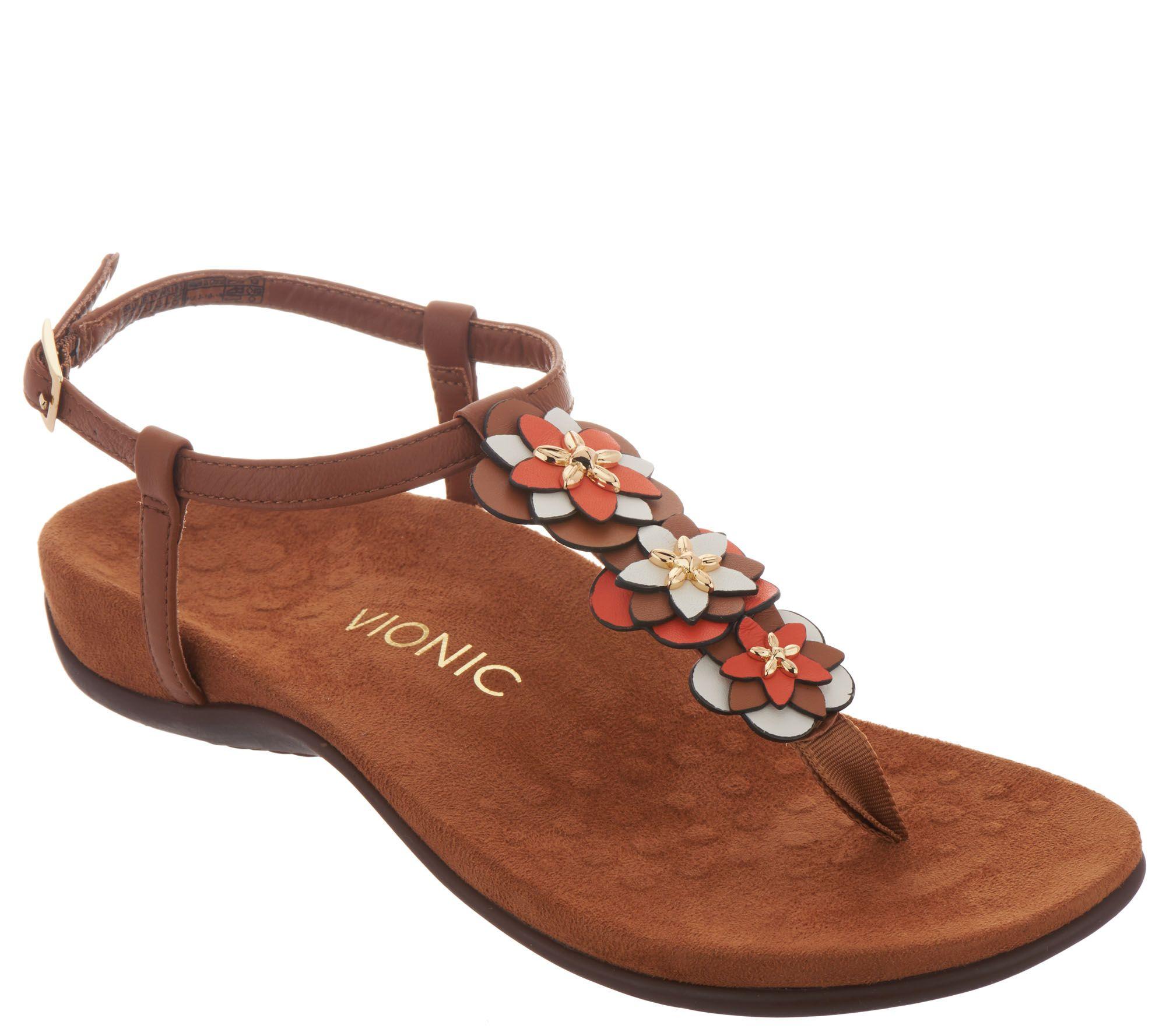 01298889b537d Vionic Floral T-Strap Sandals - Paulie - Page 1 — QVC.com