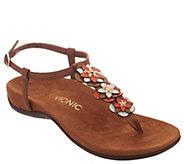 Vionic Floral T-Strap Sandals - Paulie - A305638
