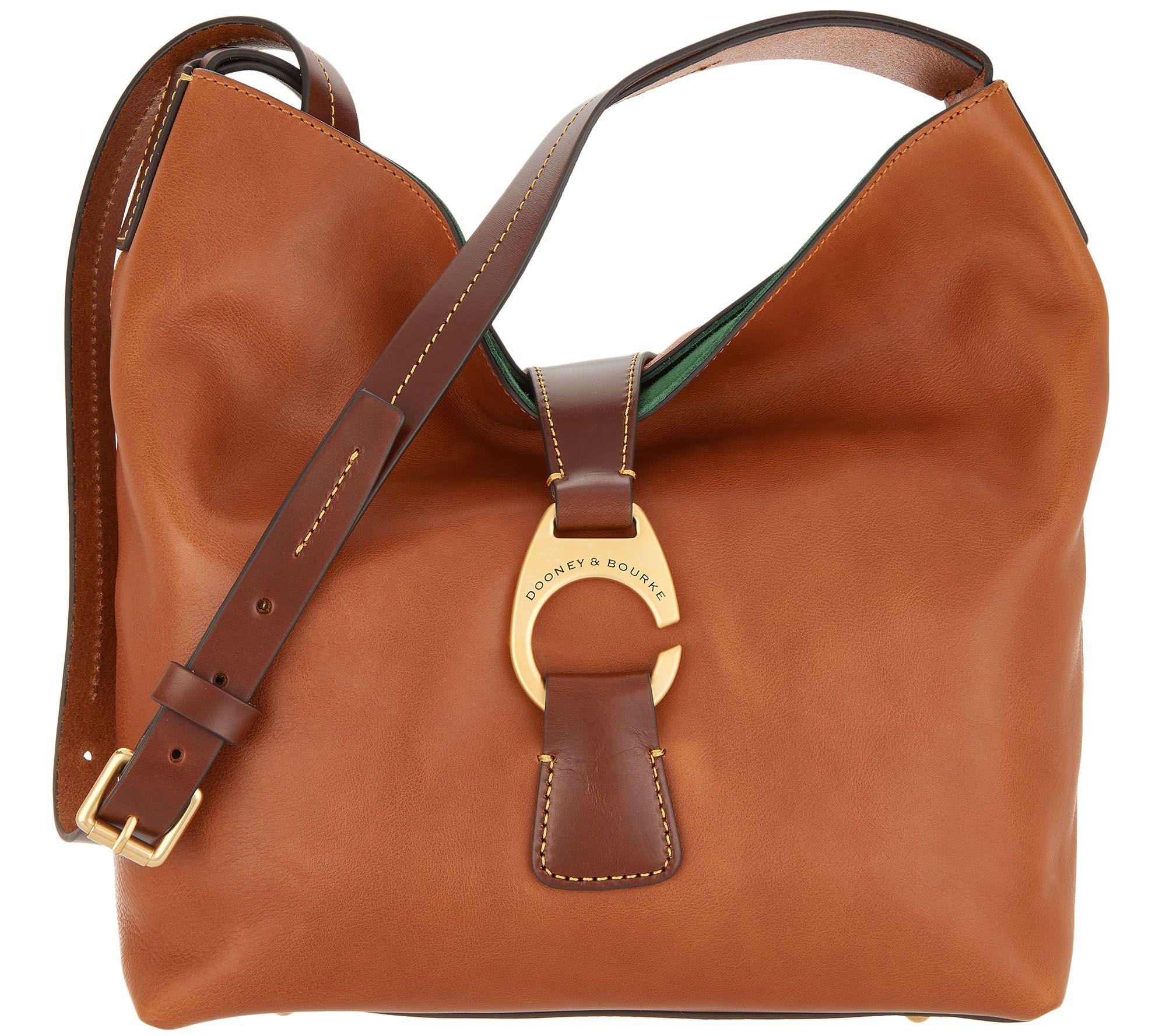 adc55194accd Dooney & Bourke Florentine Crossbody Hobo Handbag - Derby — QVC.com