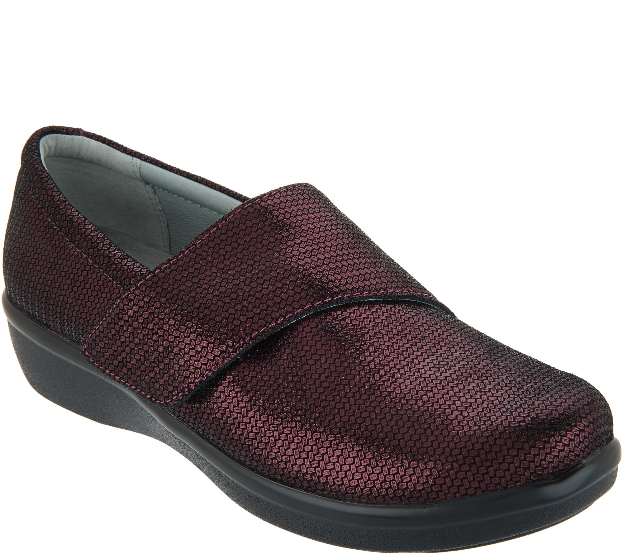 bbbd375d4f1 Alegria Printed Nubuck Slip-On Shoes with Cross Strap - Lauryn - Page 1 —  QVC.com