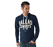 As Is NFL Dallas Mens Long Sleeve Thermal Hooded Top - A310738