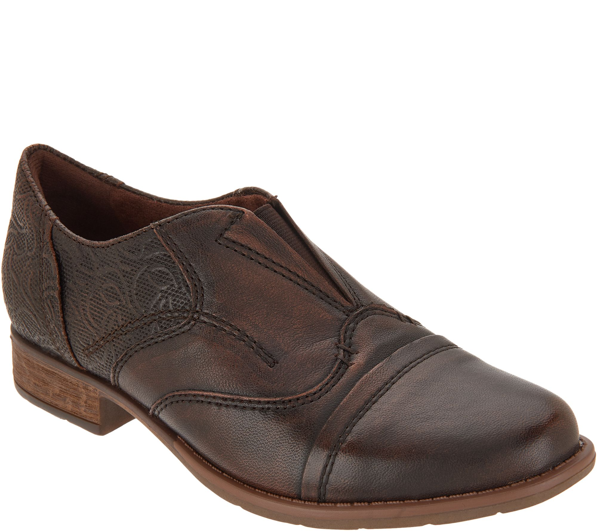 9a77cf90a412 Earth Leather Slip-On Shoes - Blythe — QVC.com