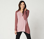 Denim & Co. Active Regular Heavenly Jersey Colorblocked Tunic - A347338