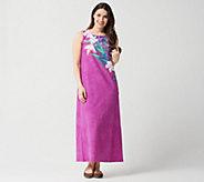 13b9796bfc7 Quacker Factory Regular Floral Printed Knit Maxi Dress - A351138