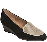 Aerosoles Leather Wedge Loafers - Lovely - A355238