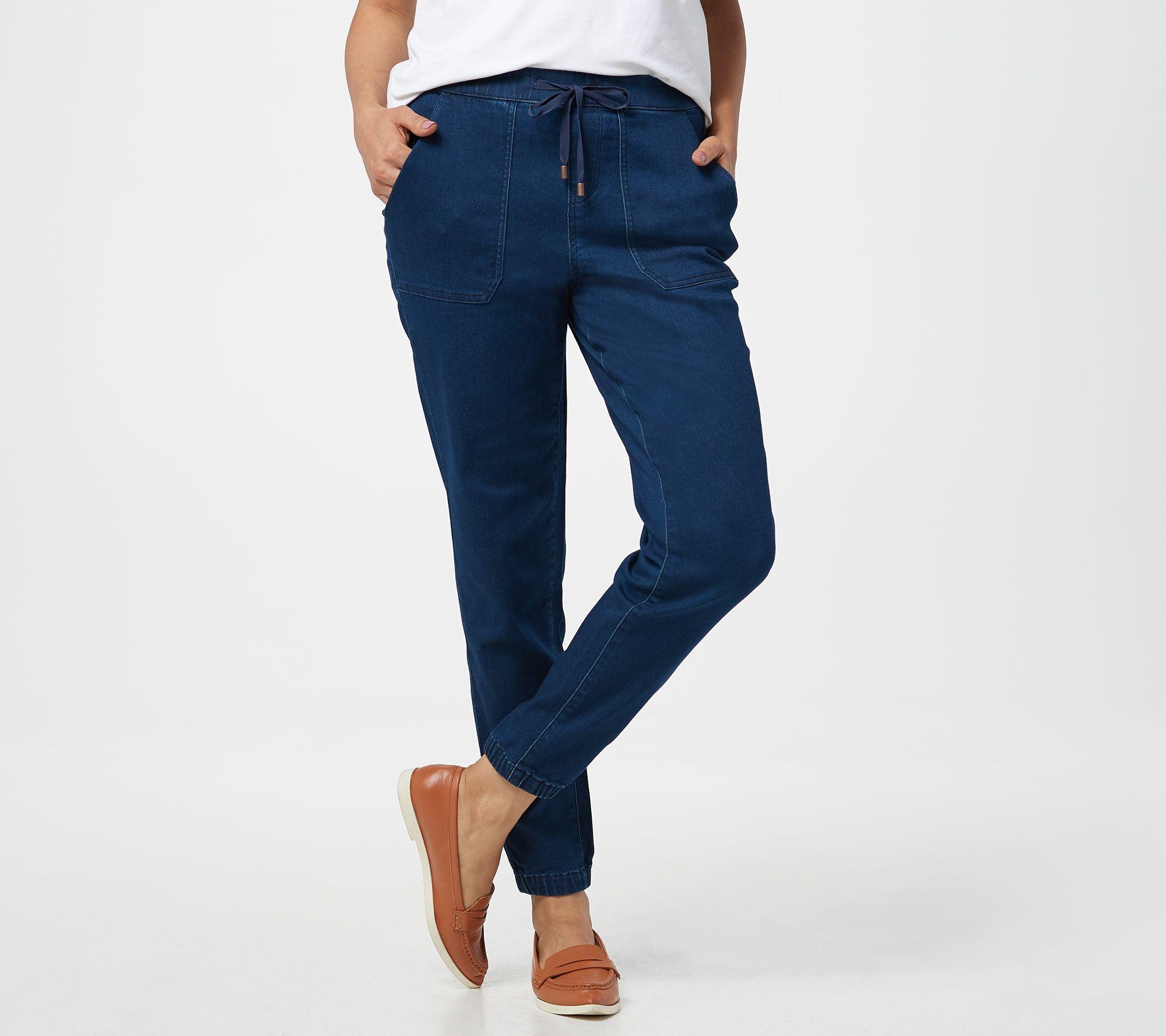 free shipping new products sale online Martha Stewart Petite Pull-On Knit Denim Jogger Pants — QVC.com