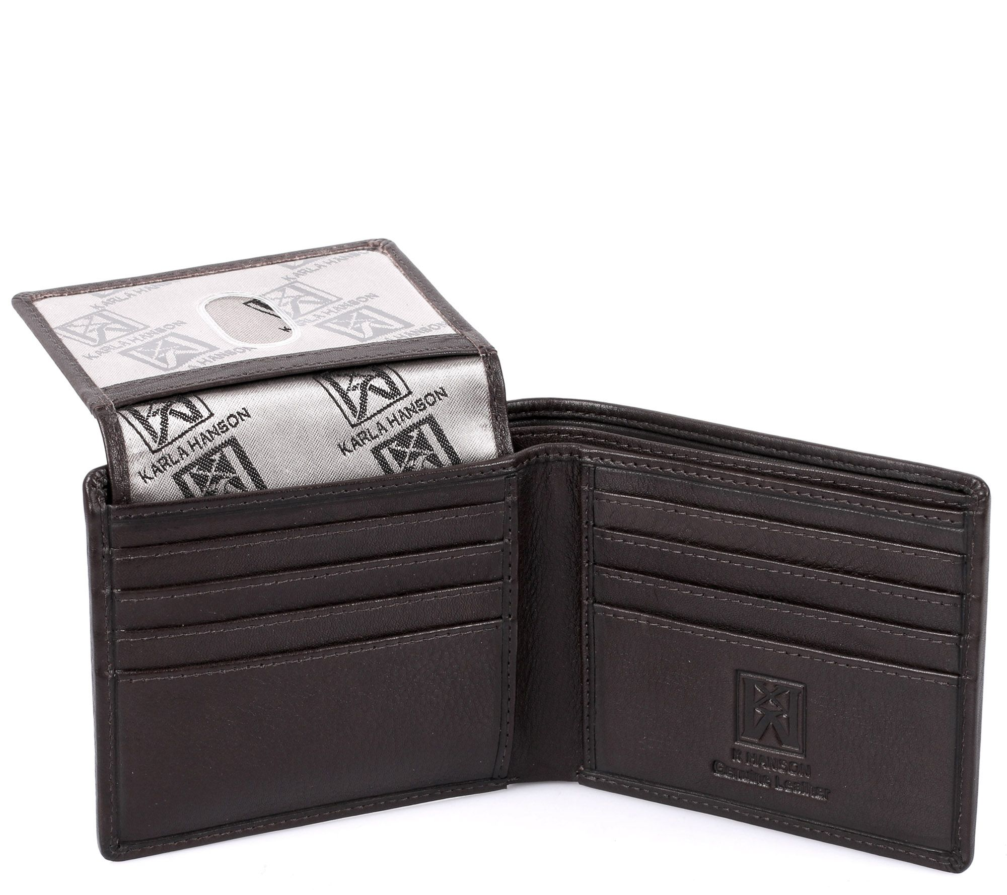 Karla Hanson Men S Leather Wallet With Card Insert Qvc Com