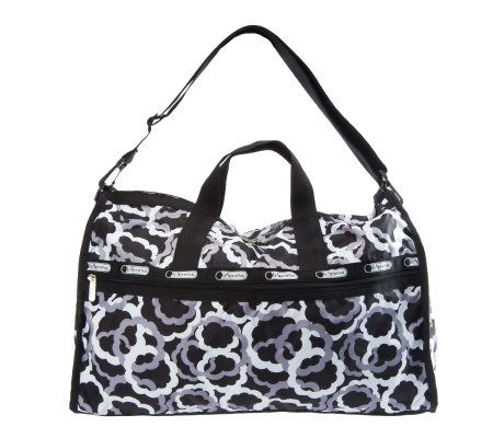 Lesportsac Printed Nylon Large Weekender W Cosmetic Case Page 1 Qvc