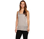 H by Halston Metallic Tank with Pointelle Detail - A277939