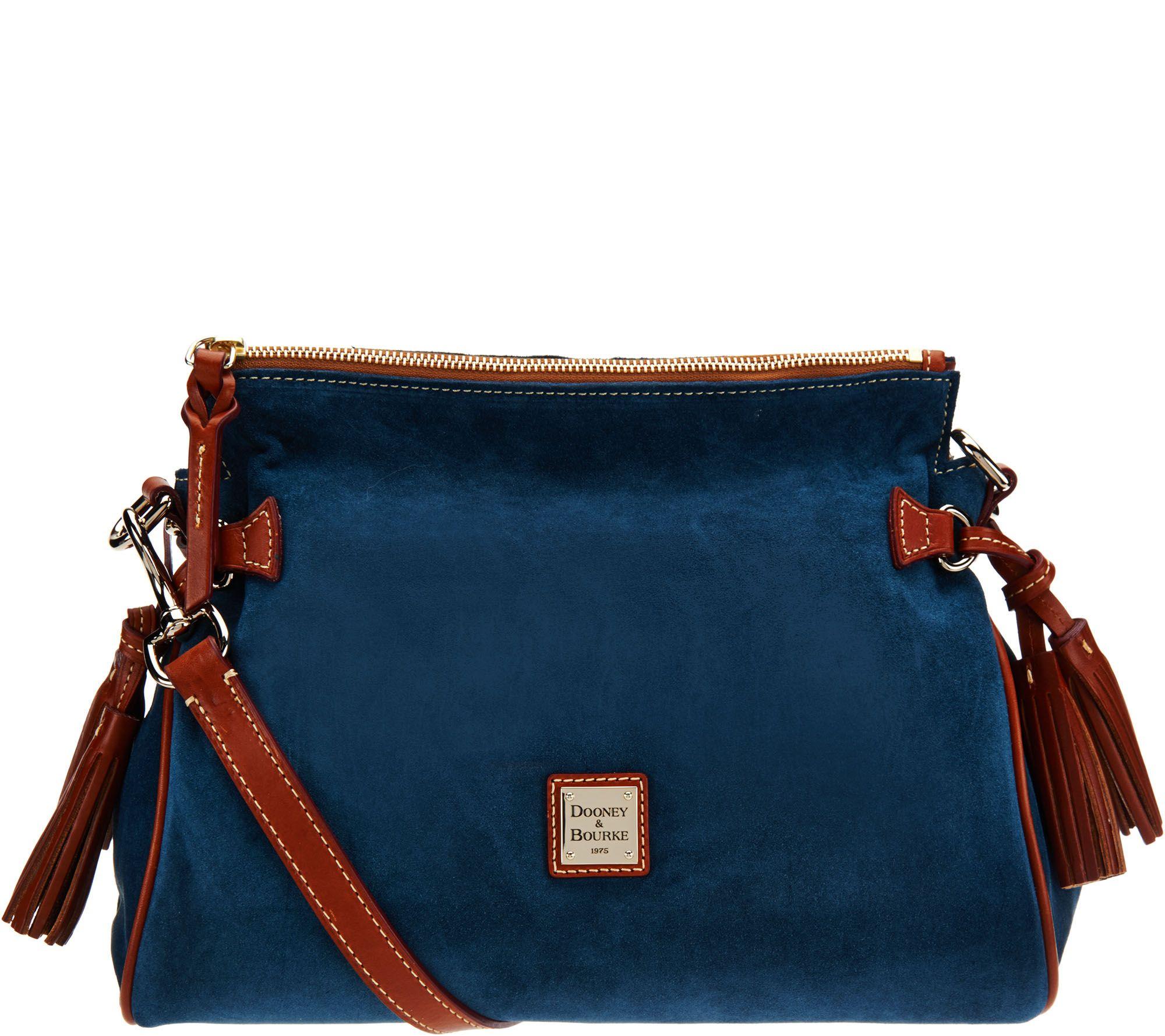 Dooney & Bourke Azul Peque?a Bolsa De Cuero Gris Oscuro Qv3um1FOU
