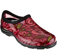 Sloggers Waterproof Swirl Design Garden Shoe w/ Comfort Insole - A289639