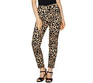 Isaac Mizrahi Live! 24/7 Stretch Leopard Print Ankle Pants - A293939