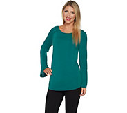 Kelly by Clinton Kelly Knit Top with Bell Sleeves - A297939