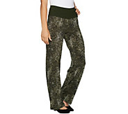 Women with Control Regular Tummy Control Pull-On Printed Pants w/ Glitz - A298539