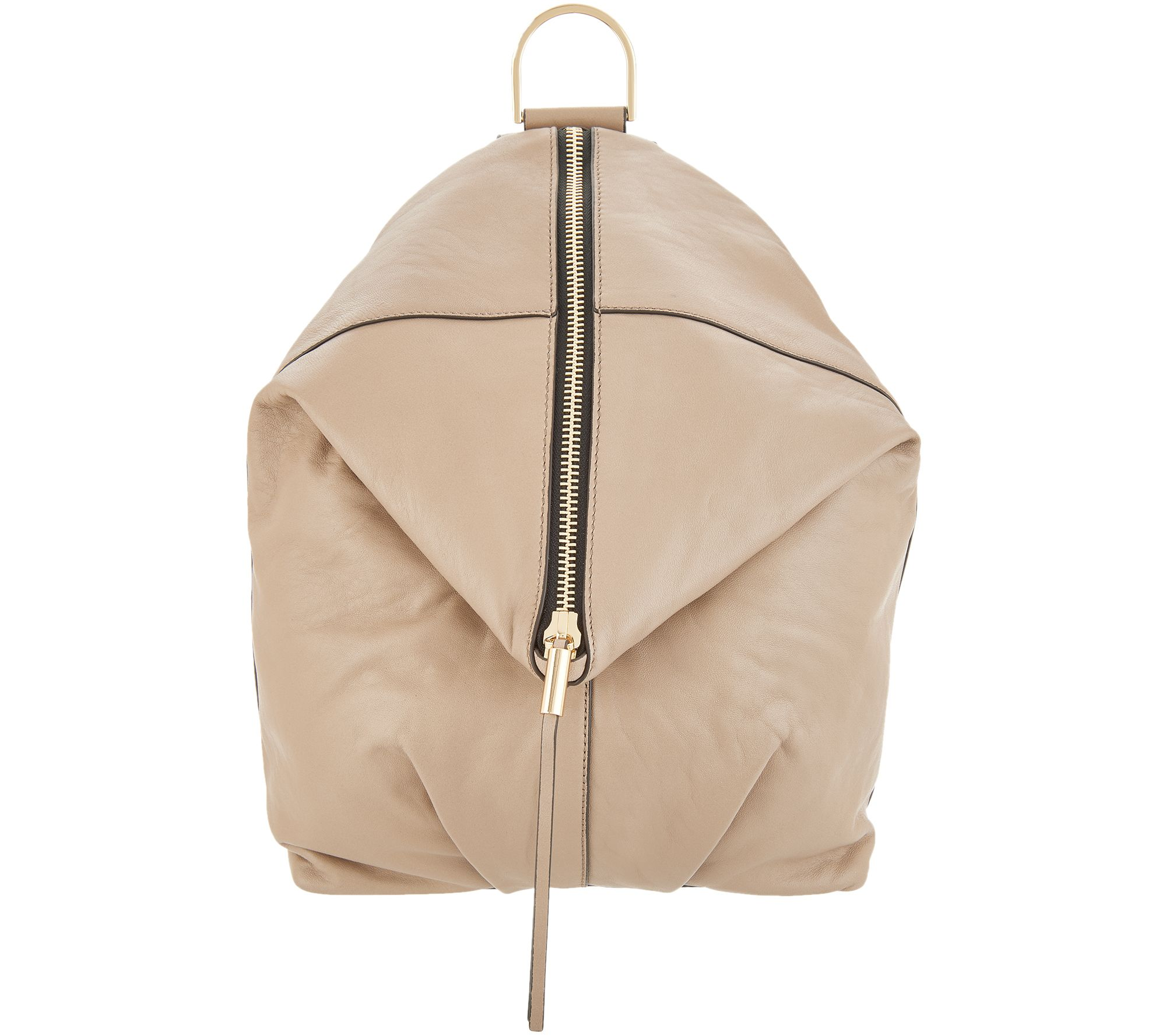 3301bf023c Vince Camuto Leather Backpack - Alder - Page 1 — QVC.com