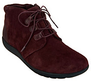 As Is Clarks Leather Lace-up Ankle Boots- Medora Sage - A307739