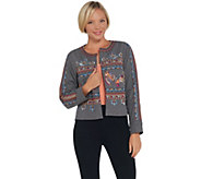 Laurie Felt Embroidered Open Front Jacket - A309539