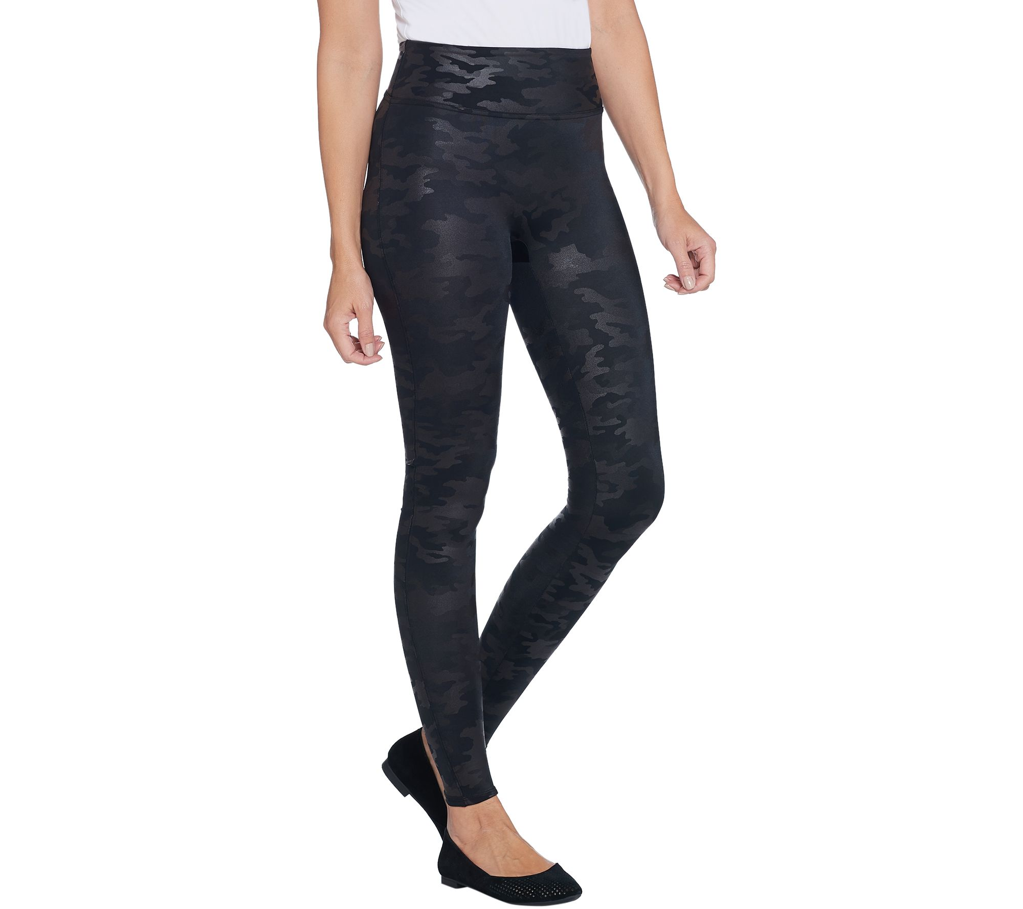 318607ee58b565 Spanx Faux Leather Matte Black Camo Leggings - Page 1 — QVC.com