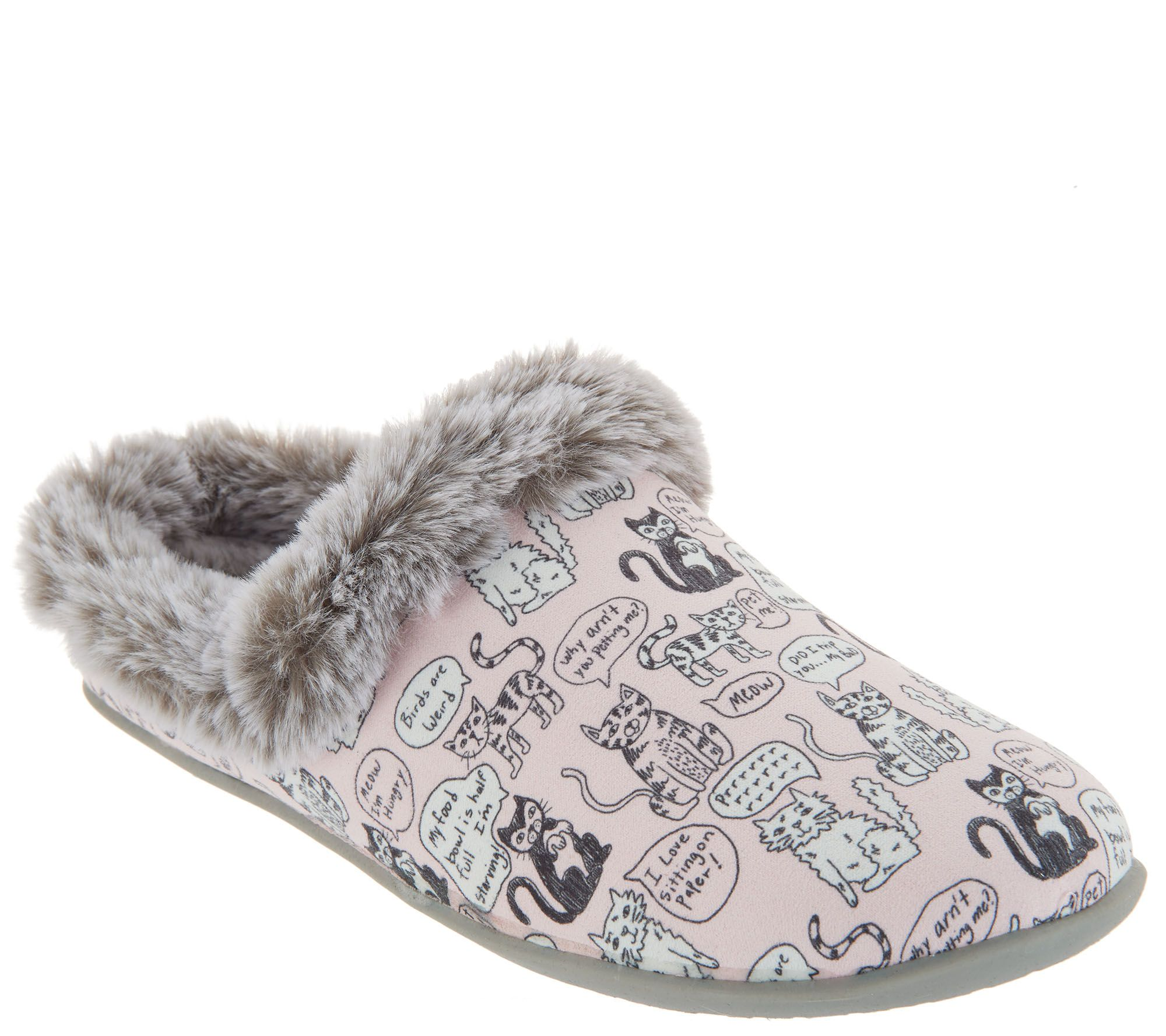 Skechers BOBs Clog Slippers Quote Me Kitty —