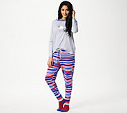 Cuddl Duds Cozy Jersey Novelty Pajama Set with Socks - A342239