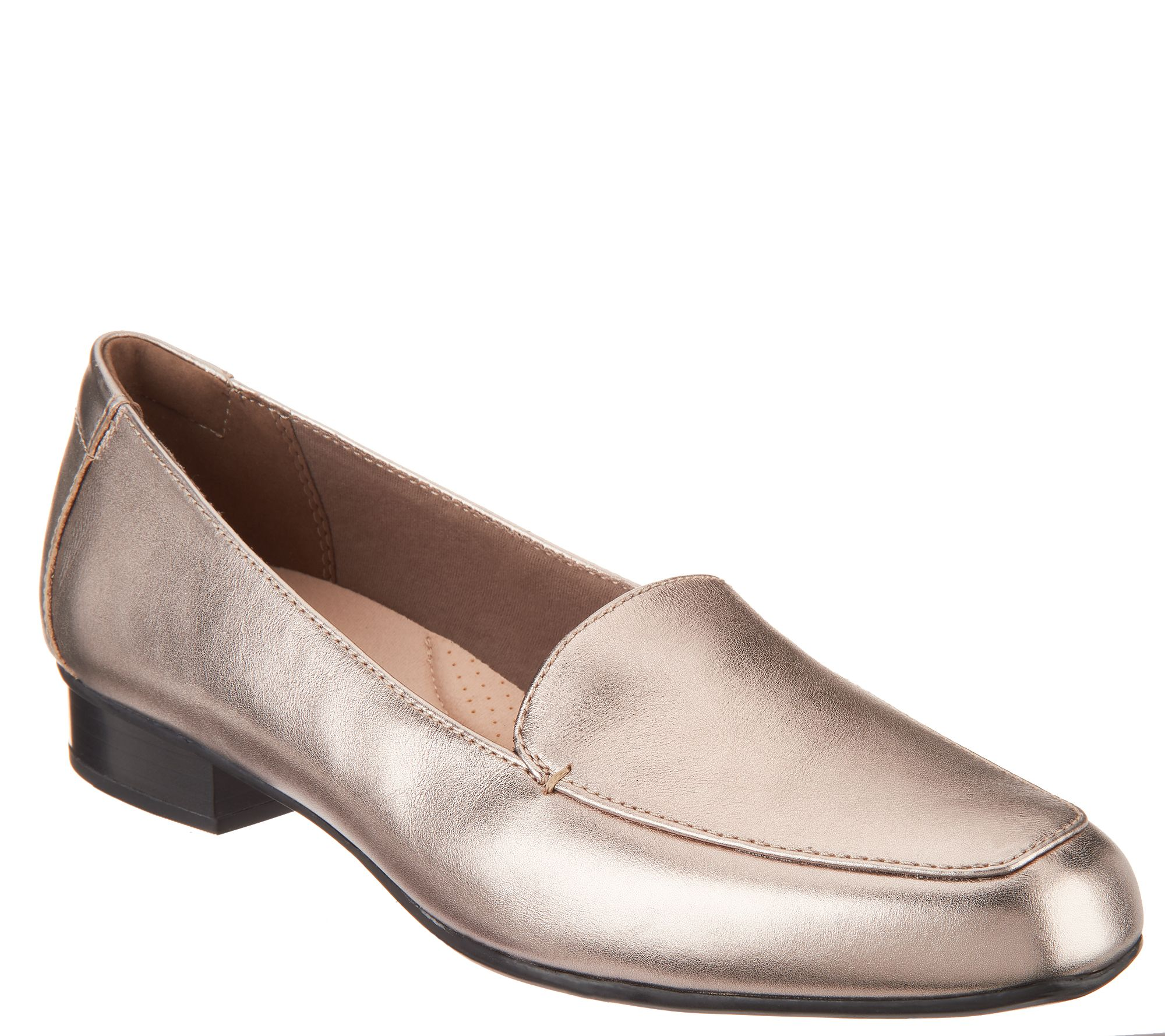 f95671ab Clarks Collection Leather Slip-On Loafers - Juliet Lora — QVC.com