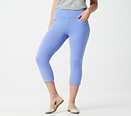 Denim & Co. Active French Terry Pull-On Capri Pants - A351939