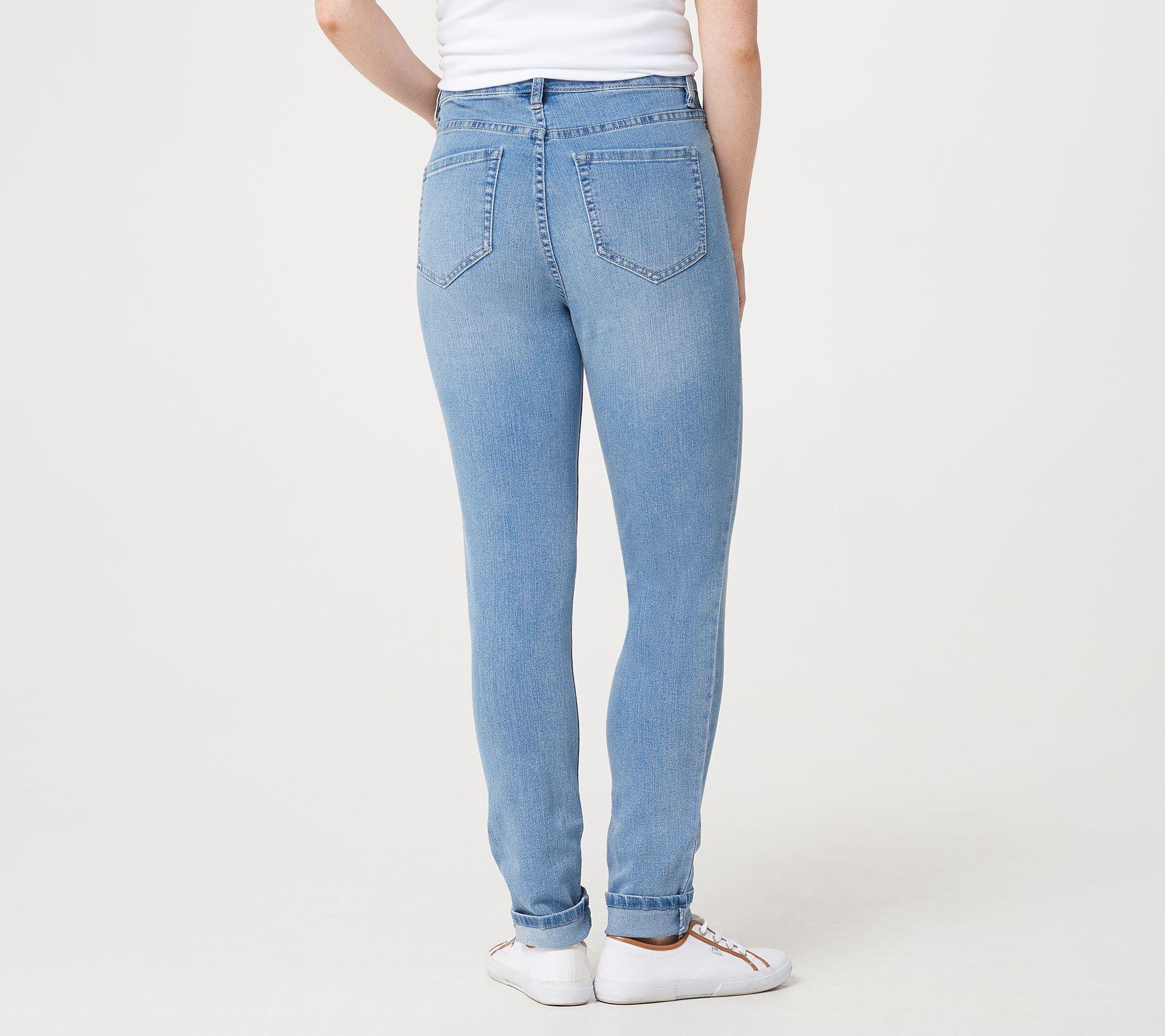 Denim & Co  Skinny Full-Length Jeans — QVC com