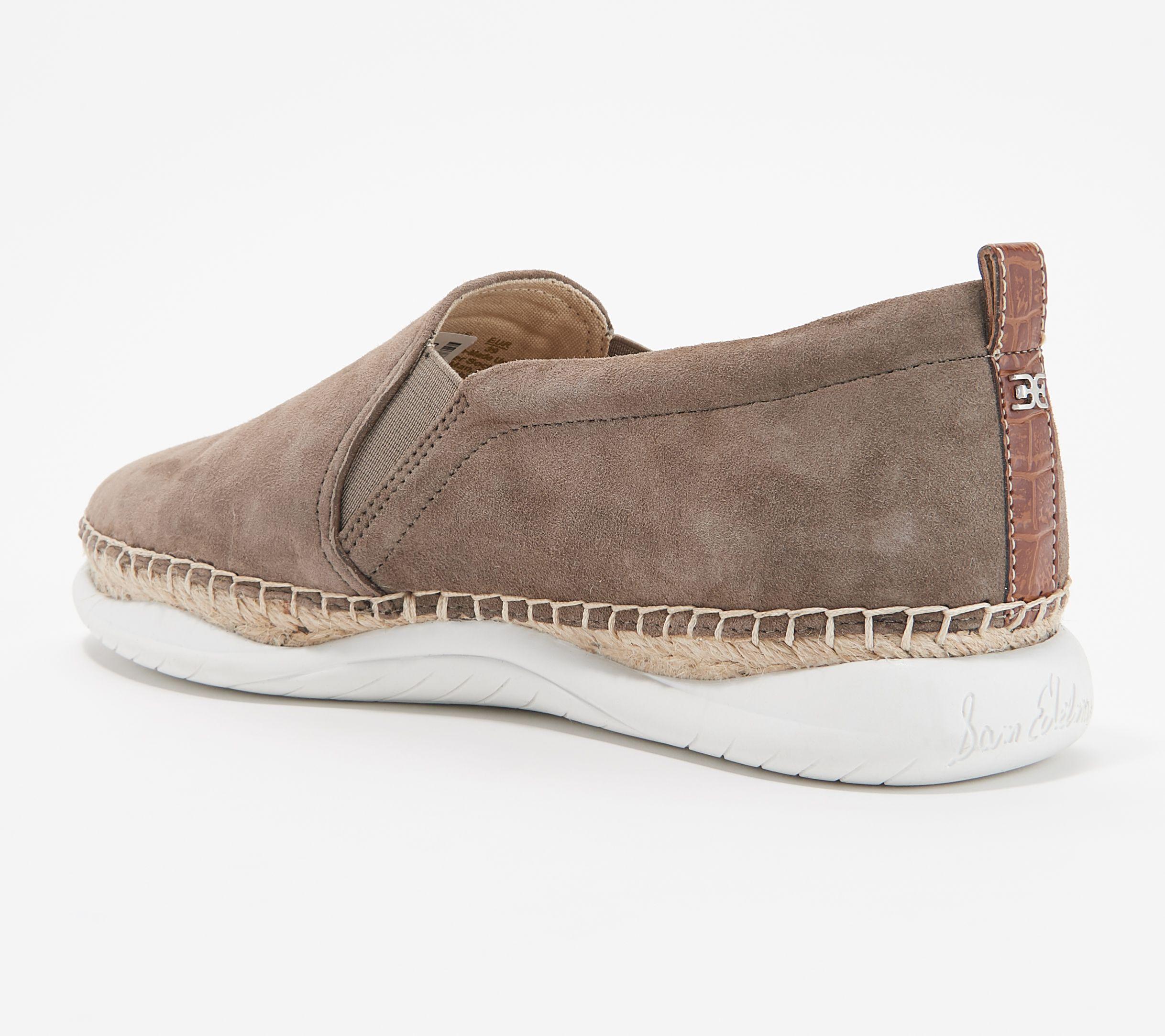 28b445c7d824 Sam Edelman Leather Slip-On Espadrille Sneakers - Kassie — QVC.com
