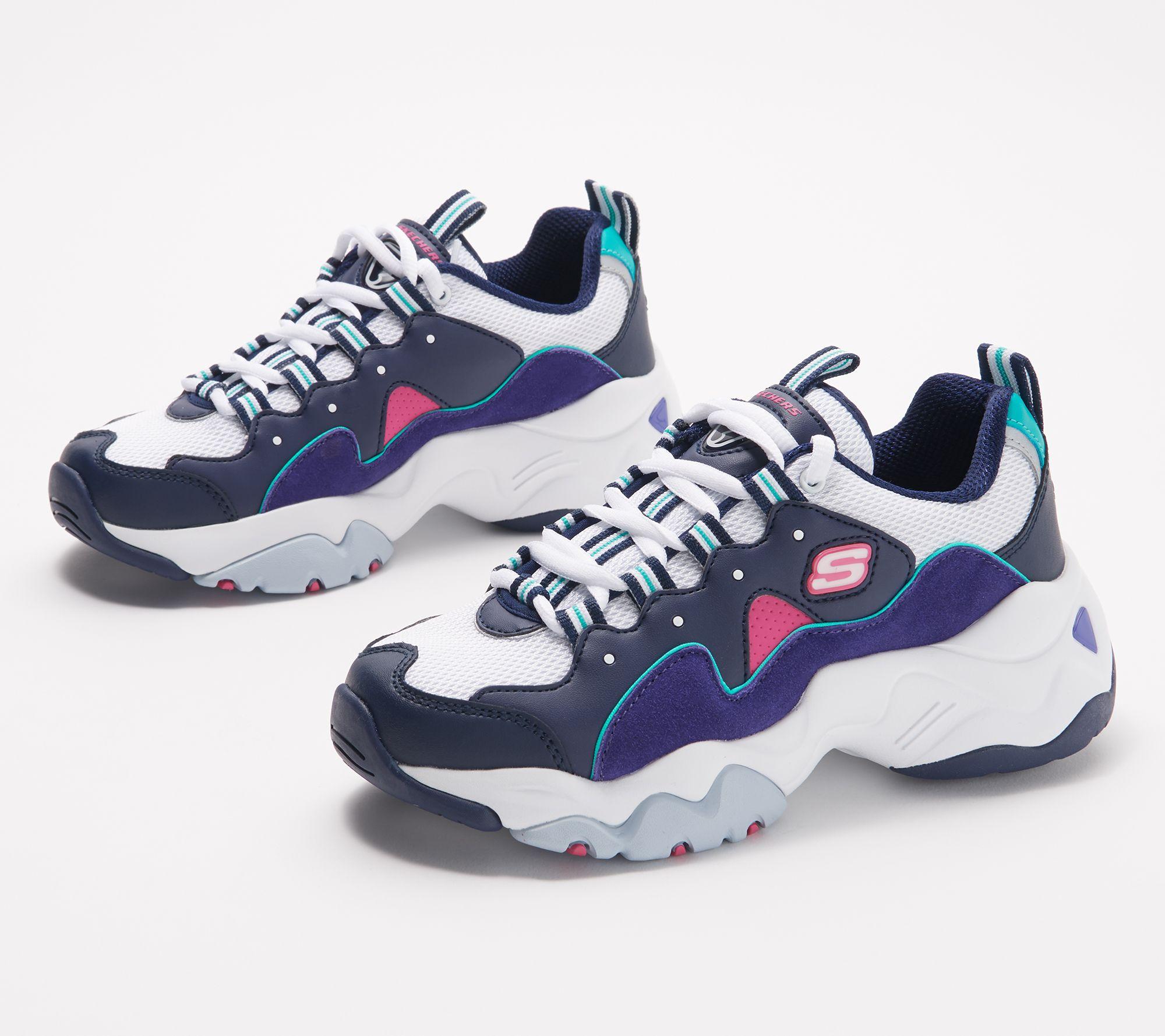 Skechers Skechers femmes's D'Lites Sneaker, WhiteBlue, 11 M US from Amazon | Martha Stewart