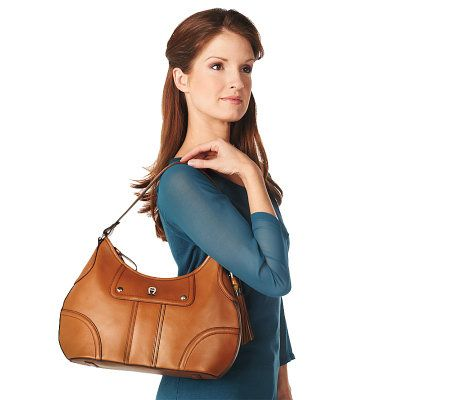 Etienne Aigner Leather Hobo Bag w  Zip Closure   Leather Wallet - Page 1 —  QVC.com fcef5b80f0c7a