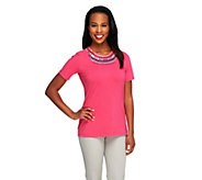 Kelly by Clinton Kelly Statement Embellished T-shirt - A254040