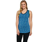LOGO Lotus by Lori Goldstein Space Dye Knit Tank with Contrast Detail - A273740