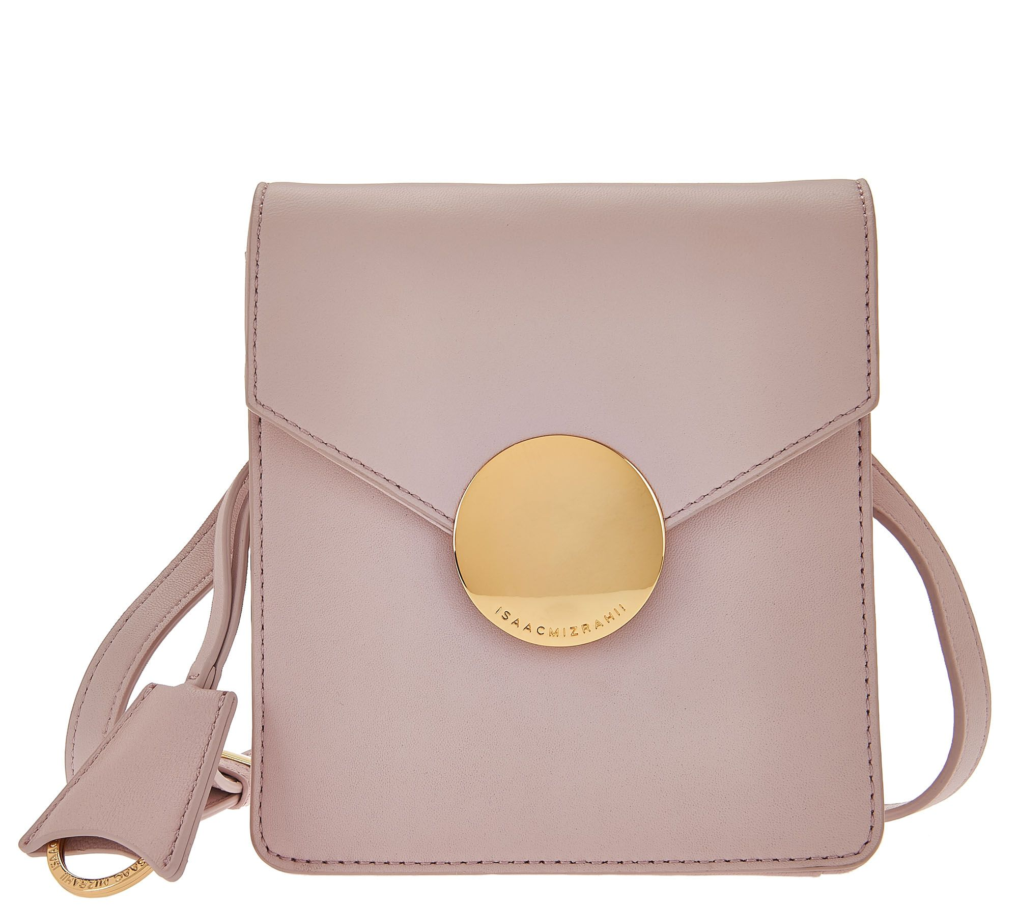 Isaac Mizrahi Live Whitney Lamb Leather Crossbody W Circle Hardware Page 1 Qvc