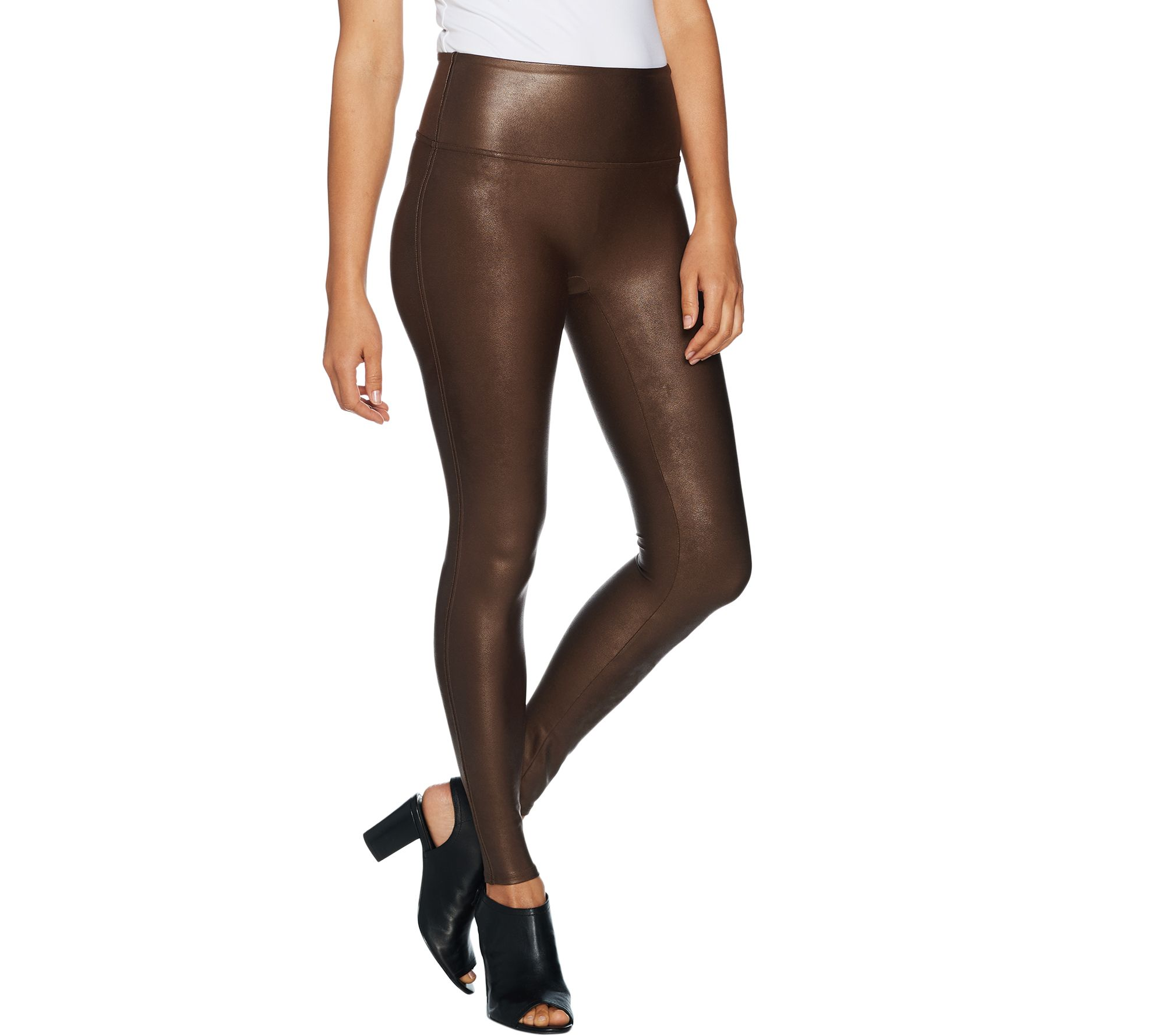 4599ea4cbf1 Spanx Faux Leather Leggings - Page 1 — QVC.com