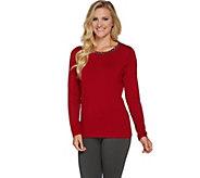 Susan Graver Artisan Embellished Rayon Nylon Sweater - A282940