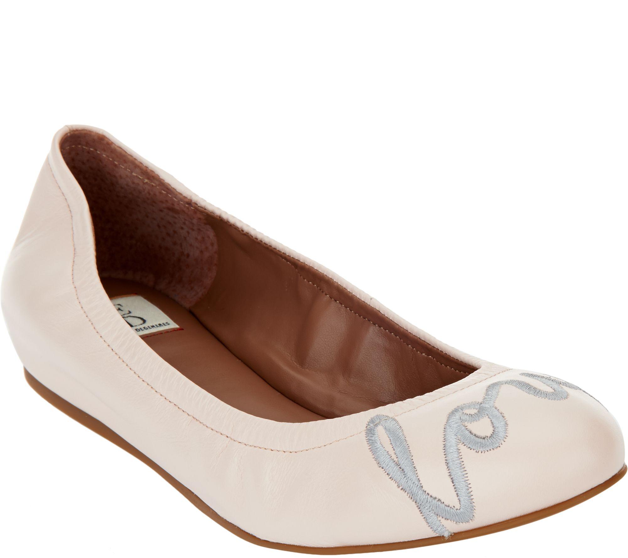 ff74cf1a6bd ED Ellen DeGeneres Leather Ballet Flats - Langston - Page 1 — QVC.com