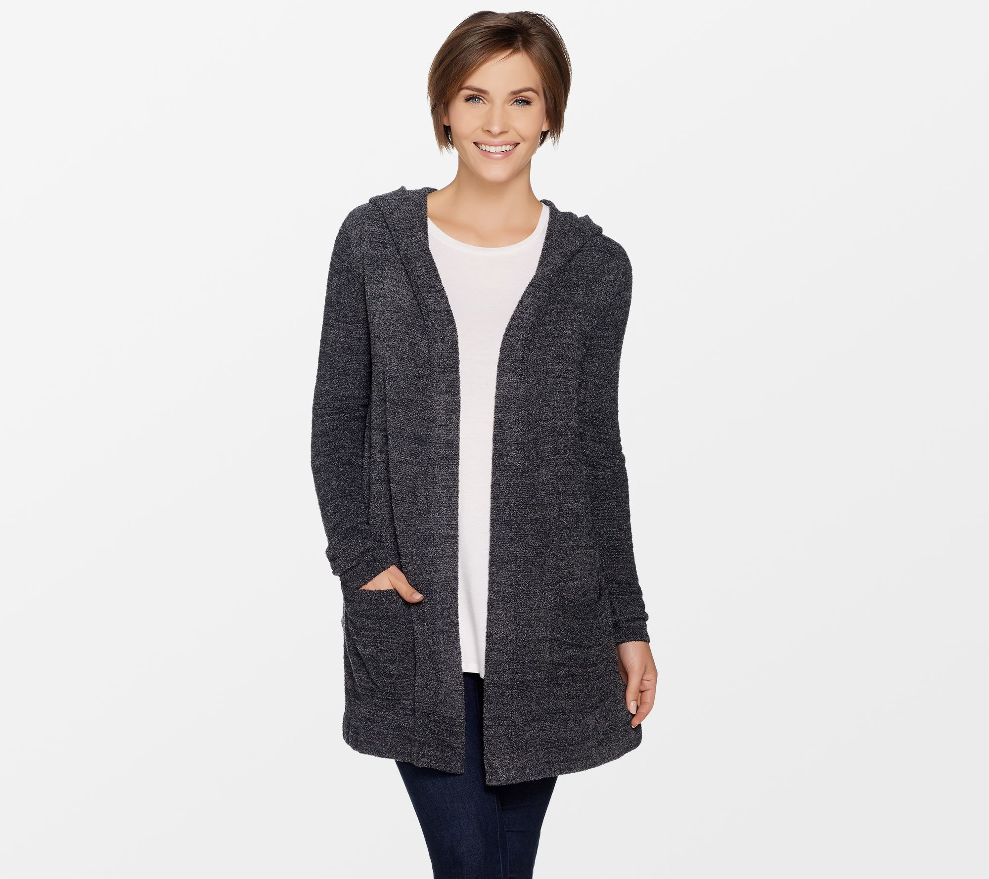 Barefoot Dreams CozyChic Ultra Lite Hooded Resort Cardi